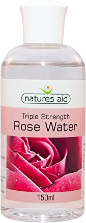 Natures Aid Triple Strength Rose Water, 150 ml (Award-Winning, No Added Ingredients, Sweet Fragranced, Vegan Society Approved, Made in UK)