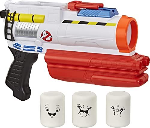 Hasbro Ghostbusters Mini-Puft Popper Blaster Action Ghostbusters: Afterlife Roleplay Toy with 3 Foam Puft Popper Projectiles for Kids Ages 8 and Up