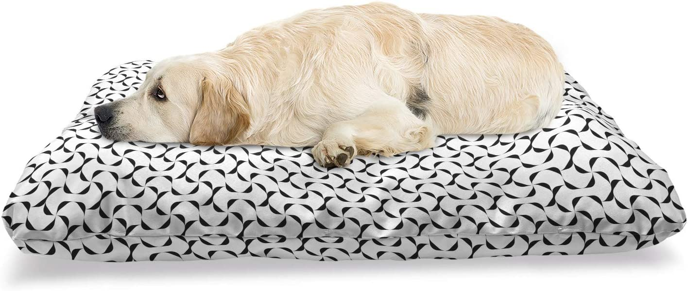 Very popular Lunarable Geometric Pet Bed Continuous Pattern Abstract of Max 84% OFF Curv