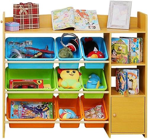 Precio por piso Estante Estante Estante de almacenamiento de juguetes para Niños Juguete de plástico for Niños Rack de almacenamiento de juguetes for bebés Soporte de exhibición Jardín de infantes Box-115  29.5  100 CM Estanterías  barato