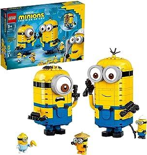 LEGO 75551 Minions Minions Displaymodellen van Stenen met Poppetjes van Stuart, Kevin & Bob voor Kinderen vanaf 8 Jaar