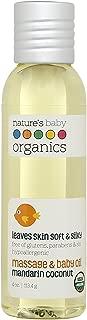 Nature's Baby Organics Baby Oil, Mandarin Coconut, Cruelty Free, Gentle on Skin, 4 oz