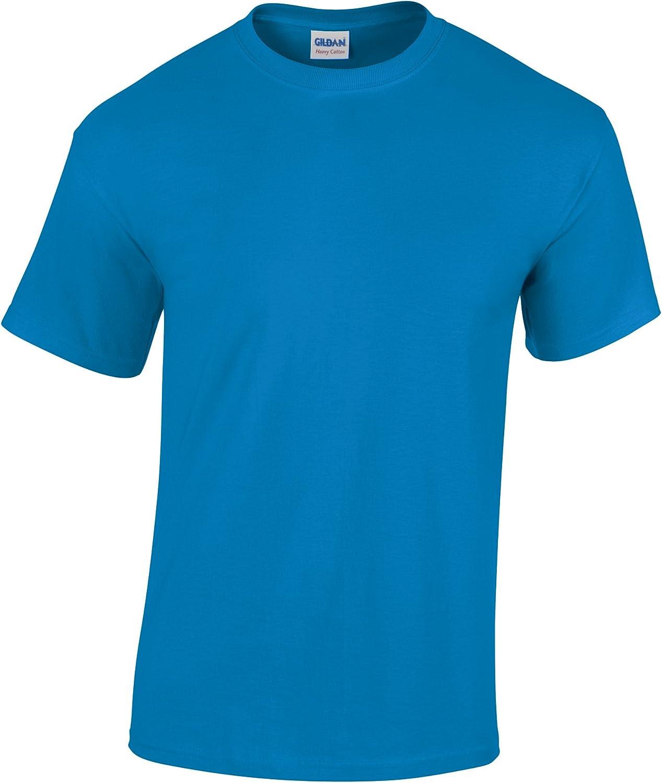Gildan Childrens Unisex Heavy Cotton T-Shirt (Pack of 2) (S) (Saphire)