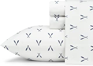 Eddie Bauer Home | Percale Collection | Bed Sheet Set - 100% Cotton, Crisp & Cool, Lightweight & Moisture-Wicking Bedding,...