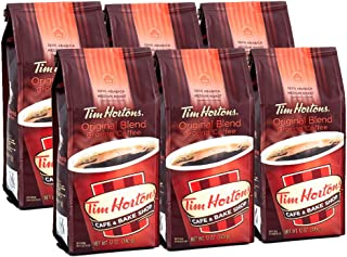 Tim Hortons 100% Arabica Medium Roast Original Blend Ground Coffee, 12 Ounce (Pack of 6)