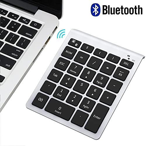 Bluetooth Number Pad, Numeric Keypad - Lekvey Portable Wireless Bluetooth Keypad : 28-Key