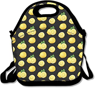Lemon Pattern Handy Portable Zipper Lunch Box Lunch Tote Lunch Tote Bags