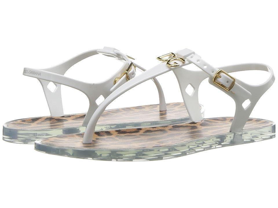 Dolce & Gabbana Kids White Sandal (Little Kid/Big Kid) (White) Girls Shoes