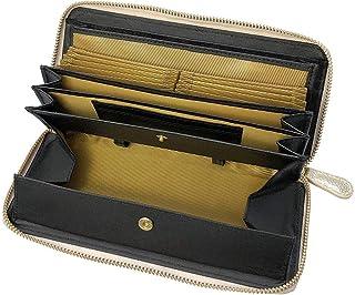 牛革 レシート すっきり 長財布 財布 レディース 大容量 本革 本皮 ラウンド ファスナー 多機能 やりくり なが さいふ ギフト プレゼント ギャルソン ウォレット
