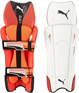 Puma, Cricket, Evo 1 Wicket Keeper Pad, , Fiery Coral/White