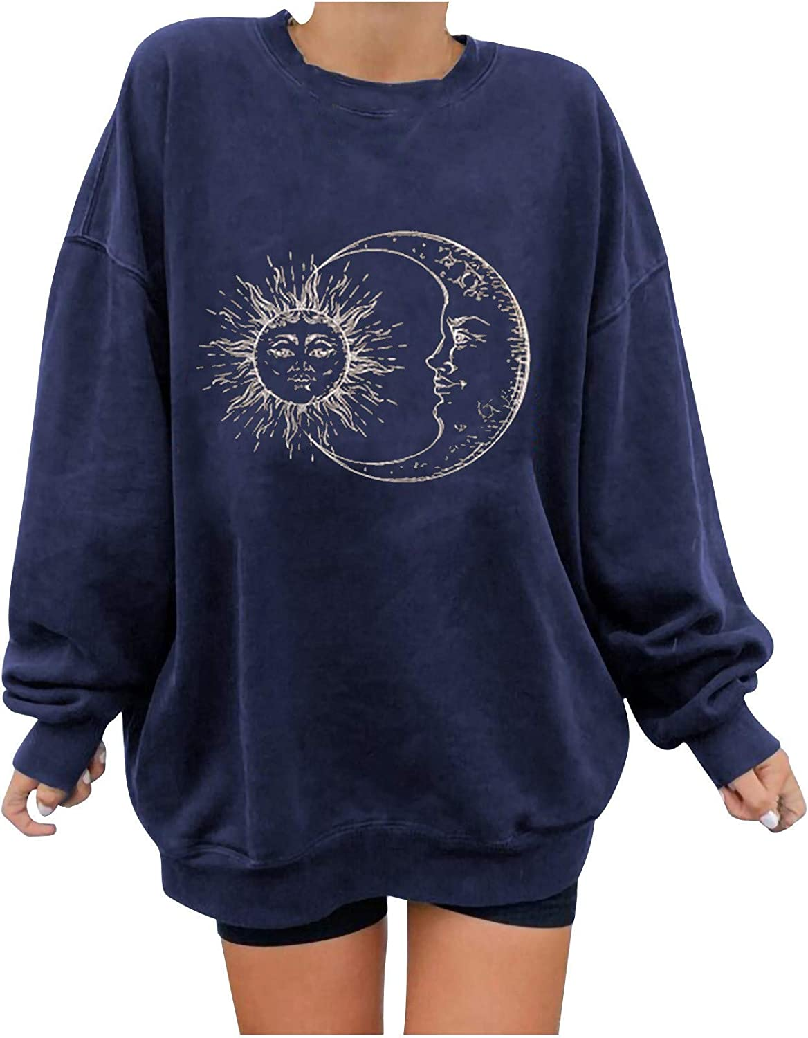 Womens Save money Short Sleeve T Shirt Vintage Nature Sun 67% OFF of fixed price and Moon Graphic