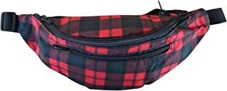 Festie Fever Rave Fanny Pack (Red Checkered 4-pockets)