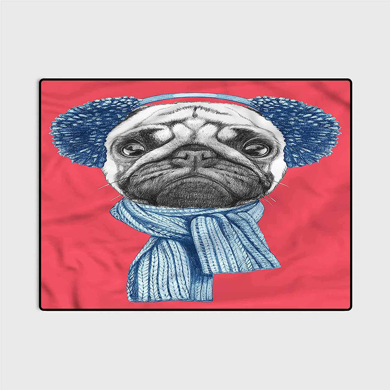 Runner Rug Lowest price challenge for Hallway Home Area Earmuf Dog free shipping with Pug Winter Rugs