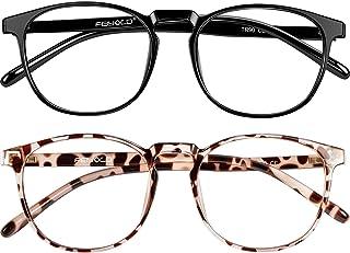 Blue Light Blocking Glasses Women/Men for Computer Use, Lightweight Anti Eyestrain Gaming Glasses(2Pack)