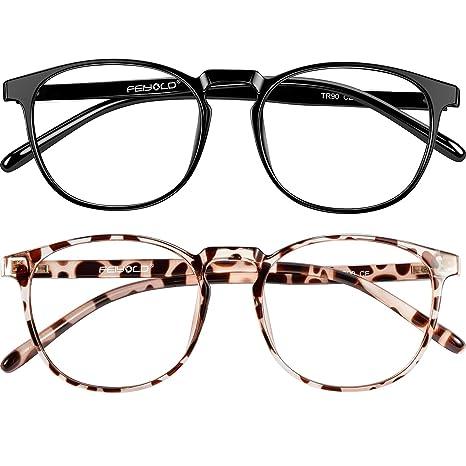 Feiyold Blue Light Blocking Glasses Women Men For Computer Use Lightweight Anti Eyestrain Gaming Glasses 2pack Amazon In Health Personal Care