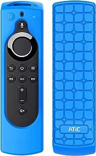 リモコンカバー ATiC 5.6インチ 新登場 Fire TV Stick 4K専用リモコンカバー シリコン製 耐衝撃 防水防塵 Alexa対応音声認識リモコン用保護カバー BLUE
