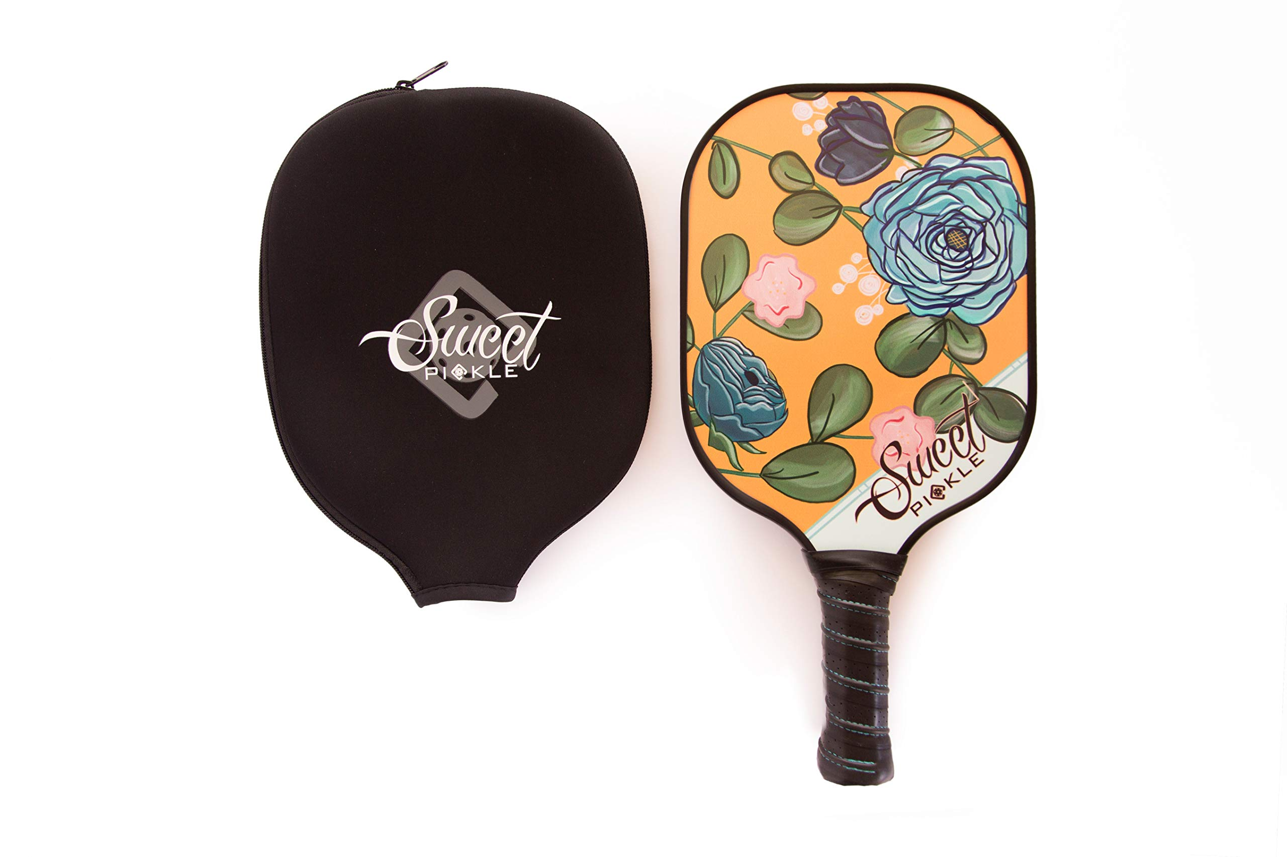USAPA Approved Retro Rose Sweet Pickle Pickleball Paddle Set