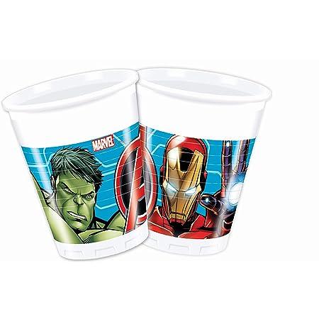 Procos - Vaso plástico 200 ml Avengers Mighty, multicolor, 5PR87964