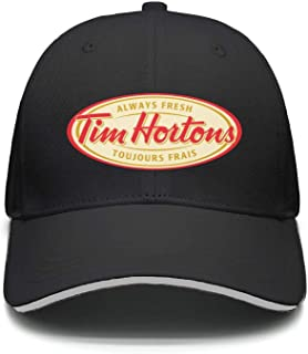 JIAJIAJIAN Adjustable Tim-Hortons-Logo- Printing Soft Twill Baseball Cap for Men