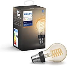 Philips Hue White Filament Single Smart LED Bulb [B22 Bayonet Cap] with Bluetooth. Works with Alexa and Google Assistant, ...