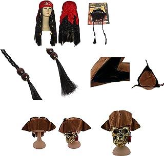 thematys Gorra Pirata Jack Sparrow + Barba + Peluca - Traje