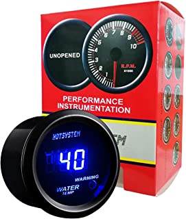 HOTSYSTEM Universal Water Temp Gauge Temperature Meter Blue Digital LED DC12V 2inches 52mm for Car Automotive(Celsius)