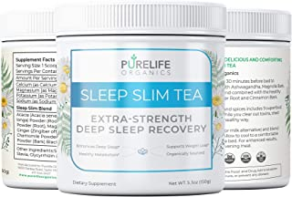 PureLife Organics - Sleep Slim Tea - Deep Sleep Recovery - 5.3 oz. - Eliminate Late Night Cravings, Experie...
