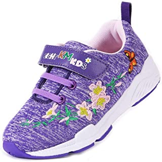 EIGHT KM Boys and Girls Toddler Kids EKM7006 Lightweight Breathable Embroidered 100% Cotton Jersey Designer Trainers School Shoes