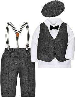Baby Jungen Bekleidungssets Kleidung Set Strampler Taufkleidung Anzug Set Baby Fliege Anzug für Baby Geburtstagsparty Kleid