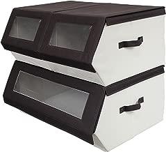 Nouvelle Legende Closet Organizer Easy Storage Bins Collapsible Compartments Set of 3 Pieces