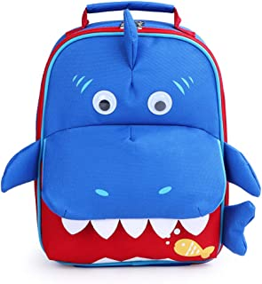 Yodo Kids Insulated Lunch Tote Bag with Name Tag, Shark