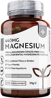 Citrato de Magnesio 1480 mg que Proporciona 440 mg Alta Dosis de Magnesio Elemental - Alta Biodis...