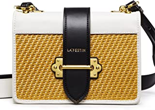 Women's Cross Shoulder Bags Small Leather Woven Side Purses for Ladies
