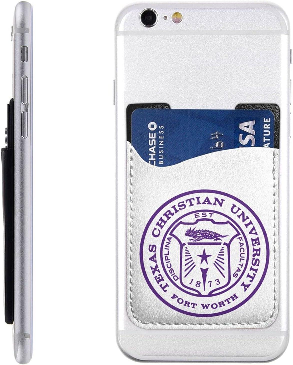 TCU Award-winning store Now free shipping University Cell Phone Card Credit Holder Wa Id Stick-On