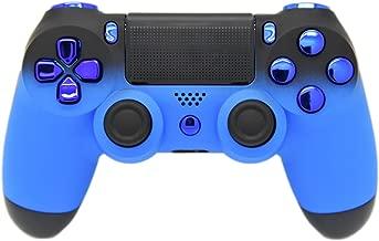 Blue & Black Fade Soft Touch Custom PS4 Controller, UN-MODDED