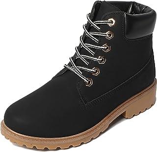 Women's Work Hiking Boots Comfortable – Black Beige...