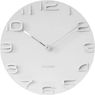 Present Time Karlsson On The Edge Wall Clock, White