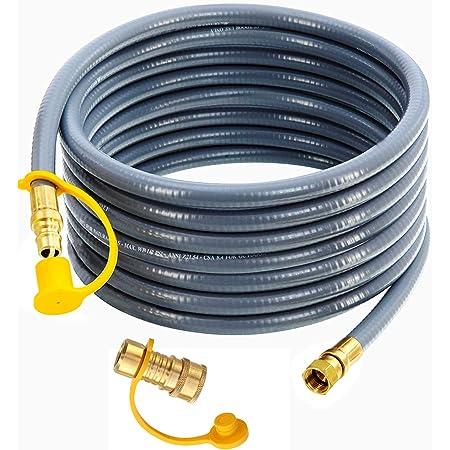 "Ziegler Brown BBQ to LPG gas bottle POL x 3//8/"" SAE Stainless Steel hose 3m"