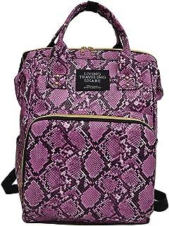 Mochilas Mujer Casual Mummy Bag Nappy Bottle Bag Serpentine Bolsa De Viaje Mochila Bolsa De EnfermeríA Bolso De Mano Handbag Moda Casual Gran Capacidad Mochila Escolar
