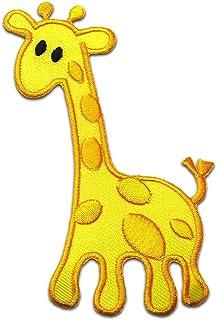 Parches - jirafa animal niños - varios colores seleccionables - 9,4 x 6,5 cm - by catch-the-patch® termoadhesivos bordados...