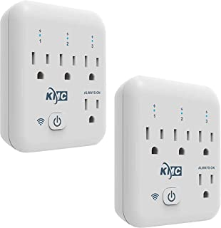 Smart plug, KMC 4 Outlet Energy Monitoring Wifi Outlet Compatible with Alexa, Google Home & IFTTT, No Hub Required, Remote Control Your Home Appliances from Anywhere, ETL Certified(2 Pack)