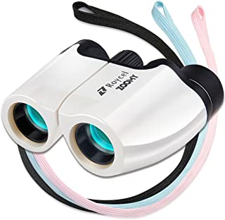 Roycel 双眼鏡 コンサート おすすめ 10倍 ネックストラップ3本付 10×22 説明書 ZOOMY (ホワイト)