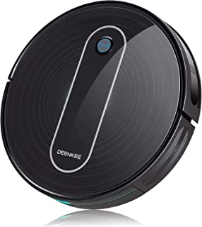 DEENKEE DK600 Robot Vacuum,1500Pa High Suction,2.8 inch Super-Thin,6 Cleaning Modes,Quiet,Timing Function,Self-Charging Robotic Vacuum Cleaner for Pet Hair,Hard Floor,Carpet