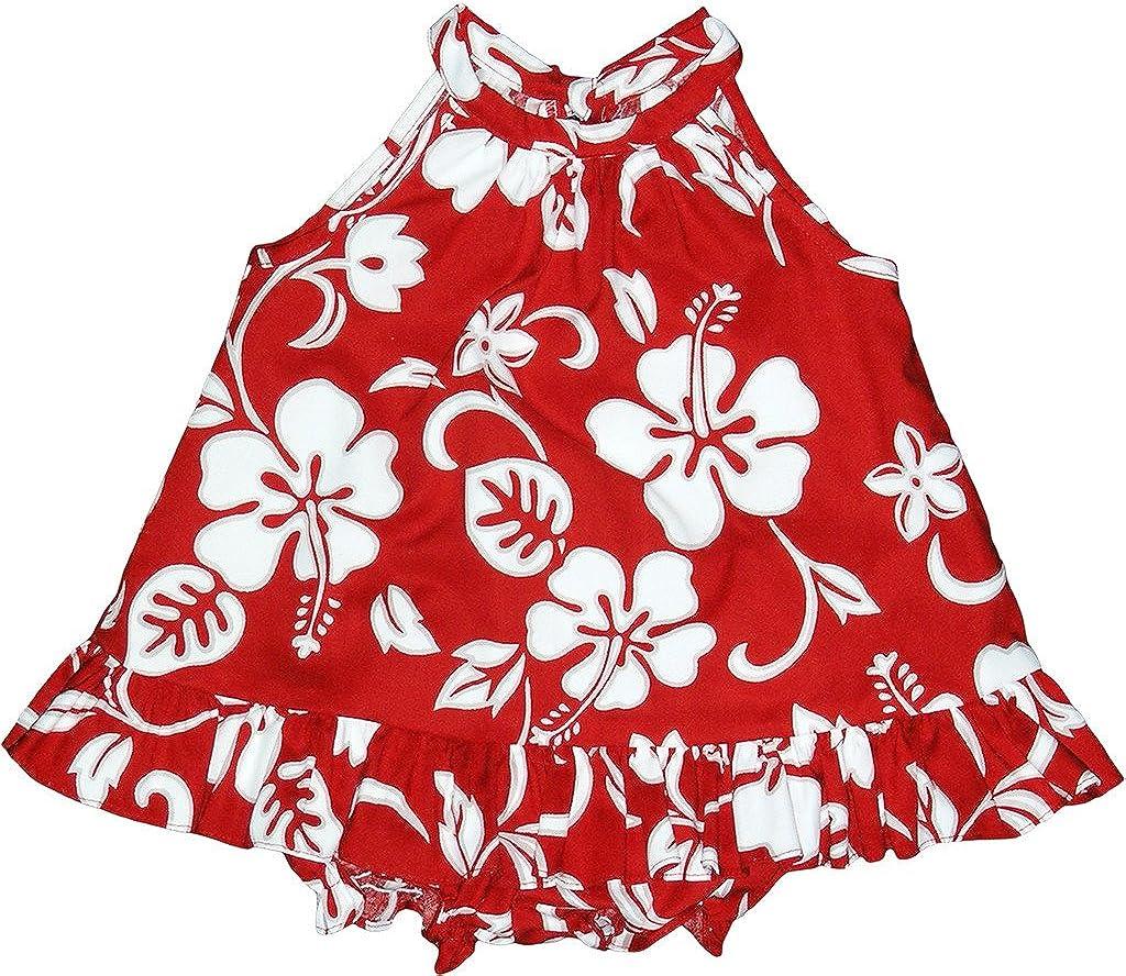 RJC Baby Girl's Hibiscus Pareo Halter Dr 2 Hawaiian Piece Max 41% OFF Ruffle Dedication