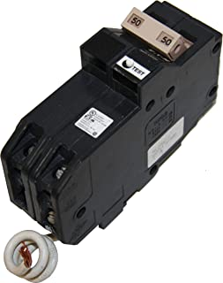 Eaton CH250GFT Plug-In Mount Type CH Ground Fault Circuit Breaker 2-Pole 50 Amp 120/240 Volt AC