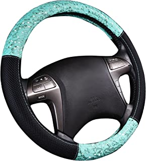 NEW ARRIVAL - CAR PASS Delray Lace and Spacer Mesh Steering wheel covers universal for vehicles,Suv (Mint)