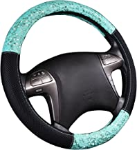 CAR PASS New ARRVIAL Delray Lace and Spacer Mesh Steering Wheel Covers Universal for Vehicles,SUV (Mint)
