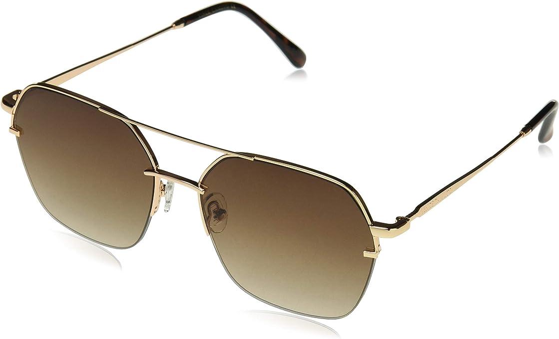 Vince Camuto Women's Vc814 Gld Non-Polarized Iridium Square Sunglasses, Gold, 60 mm