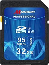 32GB SD Card, Marceloant Professional 633 x Class 10 SDHC UHS-II U3 SD Card Compatible Computer Cameras and Camcorders, SD Memory Card Up to 95MB/s, Blue/Black (32GB)