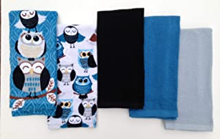 Mainstay Owl Feathered Friends 5-Piece Kitchen Towel Set